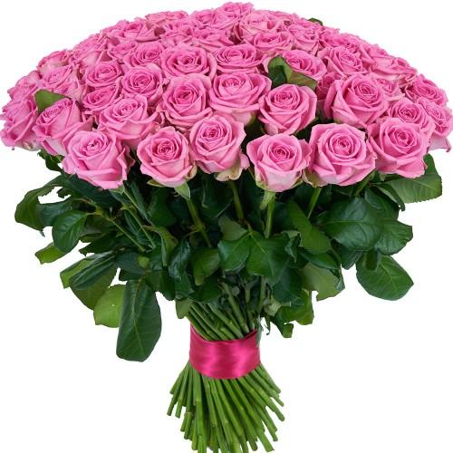 Купить на заказ Букет из 101 розовой розы с доставкой в Шу