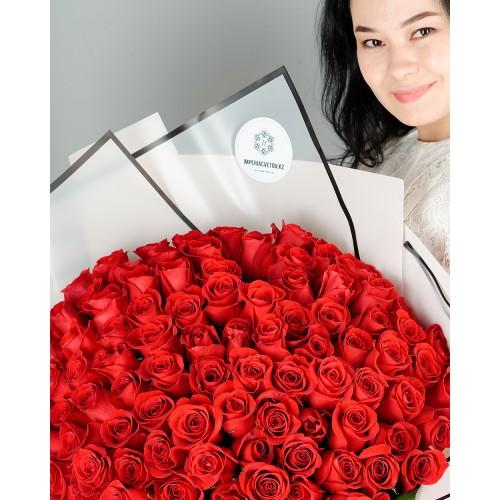 Купить на заказ Букет из 101 красной розы с доставкой в Шу