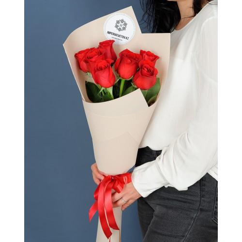 Купить на заказ Букет из 7 роз с доставкой в Шу