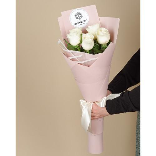 Купить на заказ Букет из 5 роз с доставкой в Шу